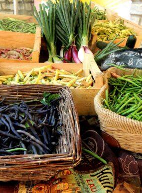 fruits et légumes sur le marché
